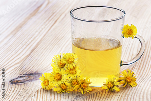 Huflattich-Tee, Coltsfoot-tea