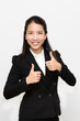 Thai business woman thumb up
