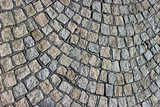 Cobble walkway texture as background