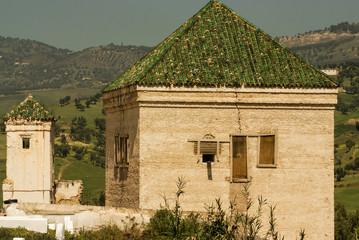 Kairaouine mosque minaret at Fez, Morocco