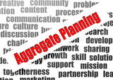 Aggregate planning word cloud