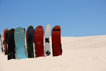 Sandboards and dunes