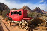 Old chariot in red rock canyon ,Nevada
