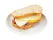 Mortadella sandwich with cheese and mustard