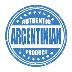 Authentic argentinian product stamp