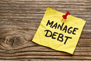 manage debt reminder note