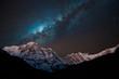 Night shot of Annapurna Range with Milky way.