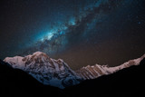 Night shot of Annapurna Range with Milky way.