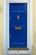 Dark blue door