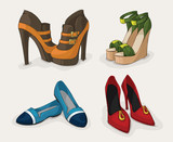 Fashion woman's shoes collection