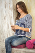 Teenager girl using her smart phone