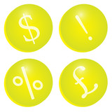 Yellow Finance Icons