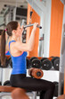 Woman on training at gym