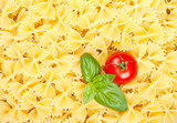Italian pasta with tomato and basil