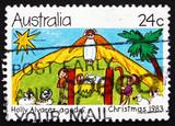 Postage stamp Australia 1983 Nativity Scene, Christmas