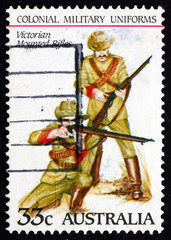 Postage stamp Australia 1985 Victorian Mounted Rifles, Uniforms