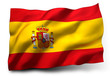 canvas print picture - flag of Spain