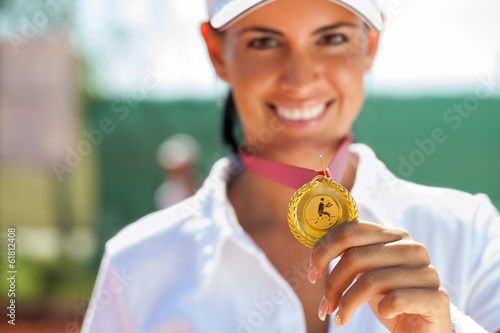 Winner female tennis