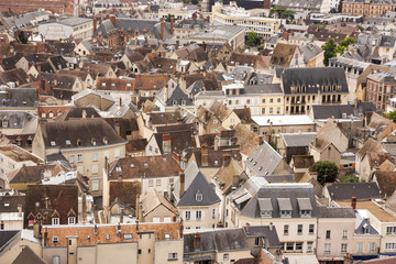 Panorama di Chartres da Notre Dame