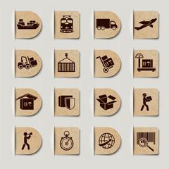 Logistic Services Labels Set