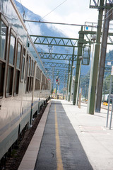 Train station in the mountains