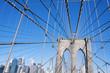 Brooklyn Bridge detail New York City