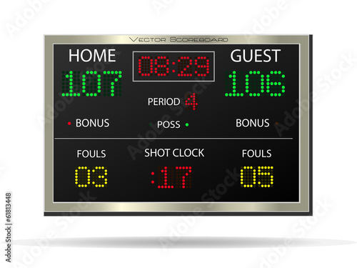 Scoreboard, Vector Illustration