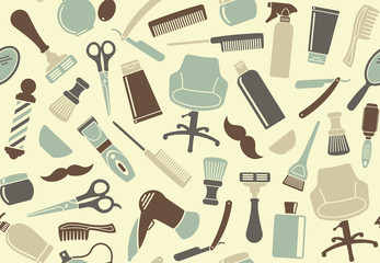 Barbershop seamless background