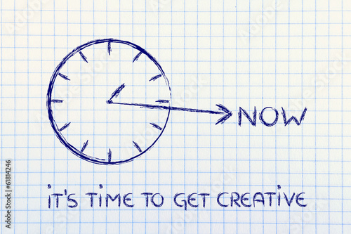 the time to get creative is now