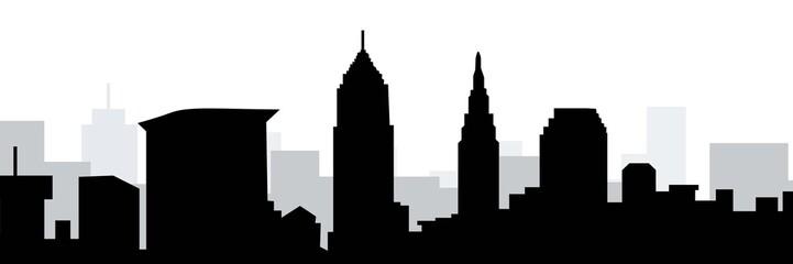 Cleveland Skyline-Vector