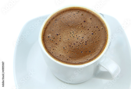 Foamy Turkish coffee