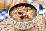 Traditional russian Soljanka soup