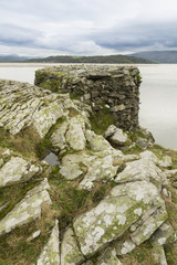 World War II pillbox, Borth y Gest, at the end of the Glaslyn es
