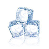 Ice cubes vector illustration
