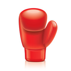 Red boxing glove vector illustration
