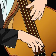 Contrabbasista in concerto
