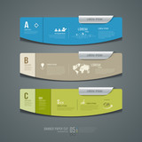 Banner colorful label paper cut for business infographic design