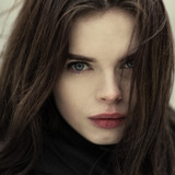Gothic portrait of a beautiful girl closeup