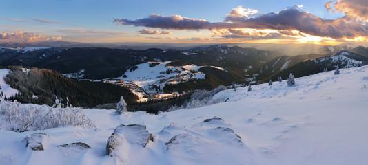 Winter mountain panorama - Donovaly