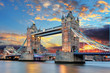 canvas print picture - Tower Bridge in London, UK