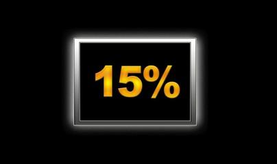 15% de descuento..