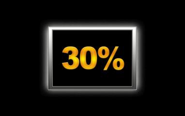 30% de descuento.