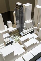 Scale model of buildings