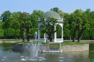 The Swan pond in the Kardiorg park, Tallinn, Estonia, Europe