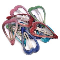 Many hair clips