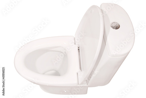 White toilet bowl  (Clipping path)