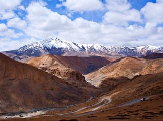Manali - Leh highway in Ladakh, North India