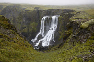 Fagrifoss waterfall in Iceland.
