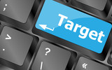 target button on computer keyboard. business concept