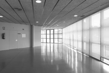 Empty corridor in a modern office building